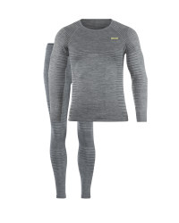Men's Grey Seamless Baselayer Set