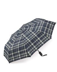 Checkered Print Automatic Umbrella