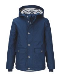 Lily & Dan Kids' Navy Raincoat