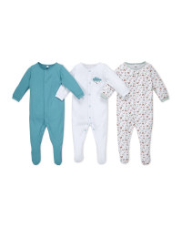 Cloud Organic Baby Sleepsuit 3 Pack