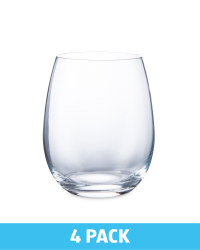 Stemless Red Wine Glasses 4 Pack