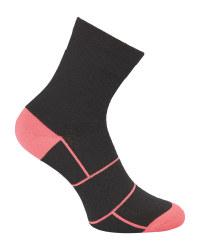 Crane Black/Pink Cycling Socks