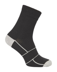 Crane Black/Grey Cycling Socks