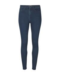 Ladies' Indigo High Waisted Jeans