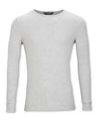 Mens' Grey Long Sleeve Thermal Top