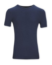 Men's Navy Thermal T-Shirt