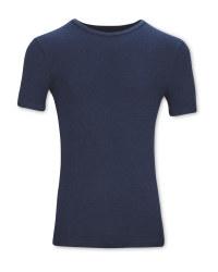 Men's Navy Thermal T-Shirt