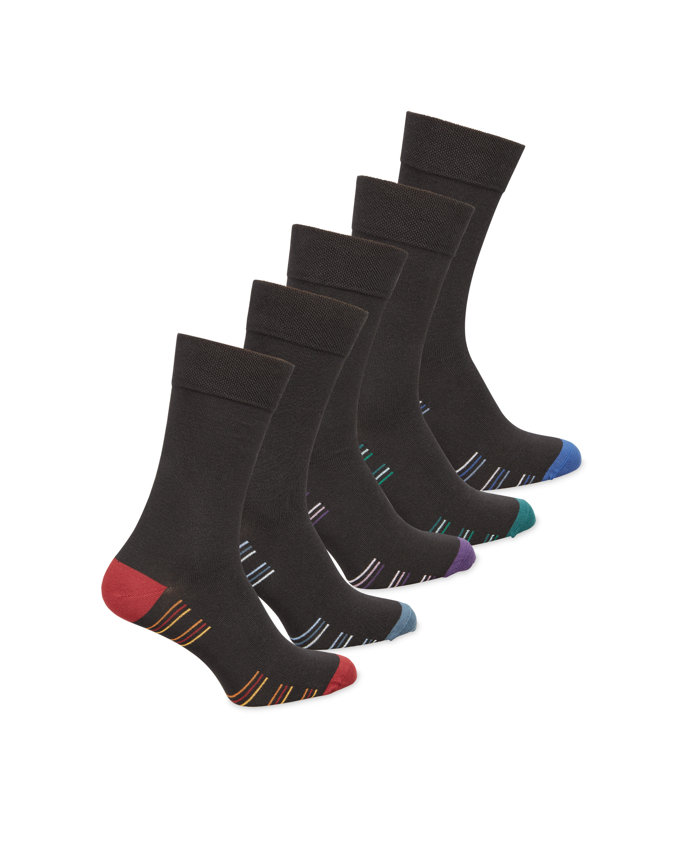 Men's Multicolour Sole Striped Socks