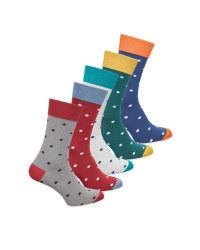 Men's Multicolour Spot Socks