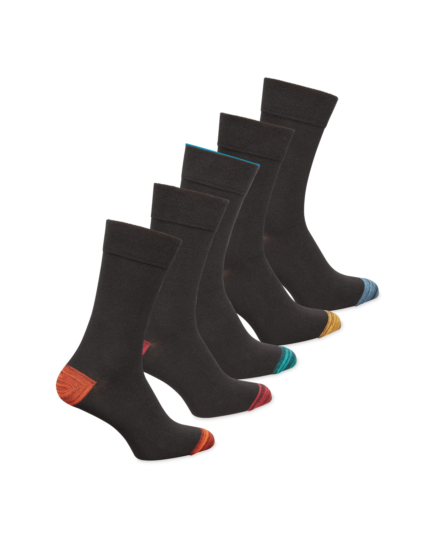 Men's Heel/Toe Colour Block Socks