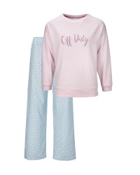 Ladies' Pink Off Duty Pyjamas