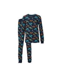 Kids' Organic Navy Dinosaur Pyjamas