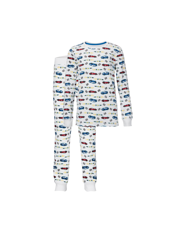 Kids' Organic White Cars Pyjamas