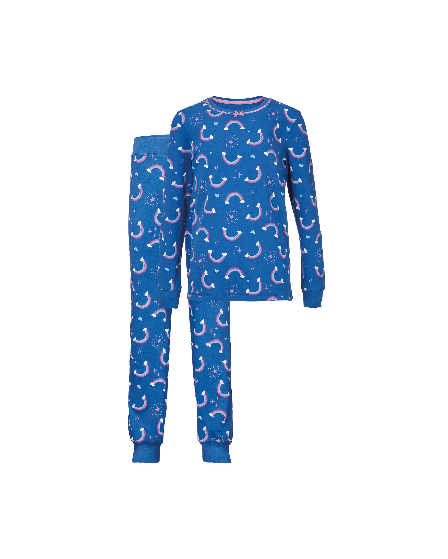 Kids' Organic Blue Rainbow Pyjamas