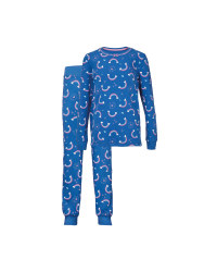 Kids' Organic Blue Rainbow Pyjamas