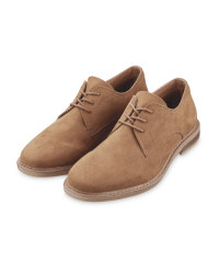 Men's Brown Laced Comfort Shoes