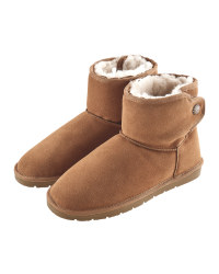 Avenue Ladies' Cognac Lambskin Boots