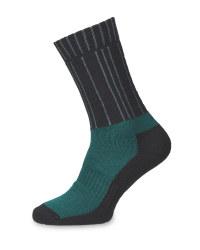 Green/Black Merino Socks 2 Pack