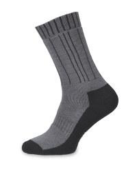 Grey/Black Merino Socks 2 Pack