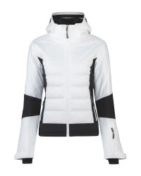 Inoc Ladies' Black/White Ski Jacket