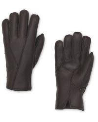 Avenue Men's Brown Lambskin Gloves