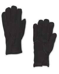 Avenue Men's Black Lambskin Gloves