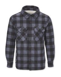 Men's Navy Sherpa-Lined Shirt