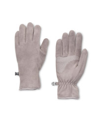 Crane Grey Fleece Gloves