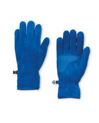 Crane Blue Fleece Gloves