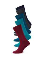 Men's Blue/Turquoise Socks 5 Pack