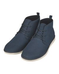 Avenue Men's Navy Chukka Boots