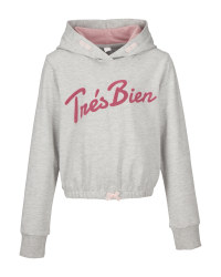 Lily & Dan Girls' Grey Marl Hoody