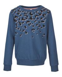 Lily & Dan Girls' Blue Sweatshirt