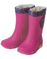 Children's Pink Wellies With Lights