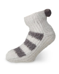Ladies' Grey Snuggle Socks 4-8