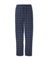 Men's Blue Check Lounge Trousers