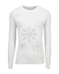 Ladies' Off White Christmas Jumper