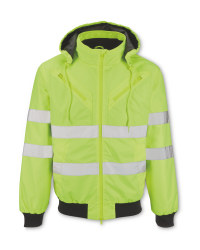 Men's Hi-Vis Yellow Workwear Jacket