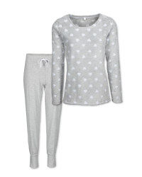 Avenue Ladies' Heart Fleece Pyjamas