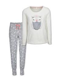 Avenue Ladies' Owl Fleece Pyjamas