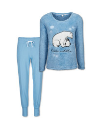 Avenue Ladies' Bear Fleece Pyjamas