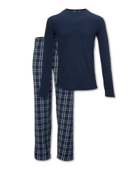 Avenue Men's Navy Pyjamas