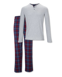 Avenue Men's Grey/Blue Pyjamas