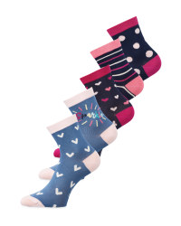 Hearts/Dots Children's Socks 5 Pack