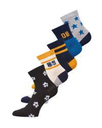 Football Children's Socks 5 Pack