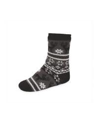 Lily & Dan Kids' Grey Slipper Socks