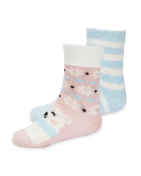 Lily & Dan Kids' Pink Slipper Socks