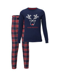 Kids' Navy Team Rudolph Pyjamas