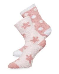 Avenue Rose Fluffy Socks 2 Pack