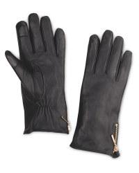 Avenue Ladies' Zip Leather Gloves